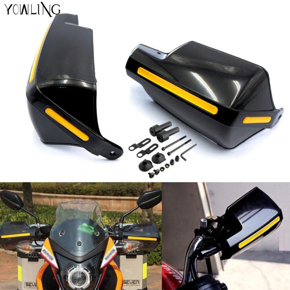все цены на Motorcycle Handlebar Hand Guards Handguard Wind Protector Protection For Kawasaki z800 z1000 Yamaha TMAX500 530 KTM DUKE 250 390 онлайн