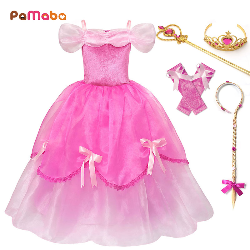 Girls/' Clothing Princess Aurora  Dresses Kids Sleeping Beauty Party Costume