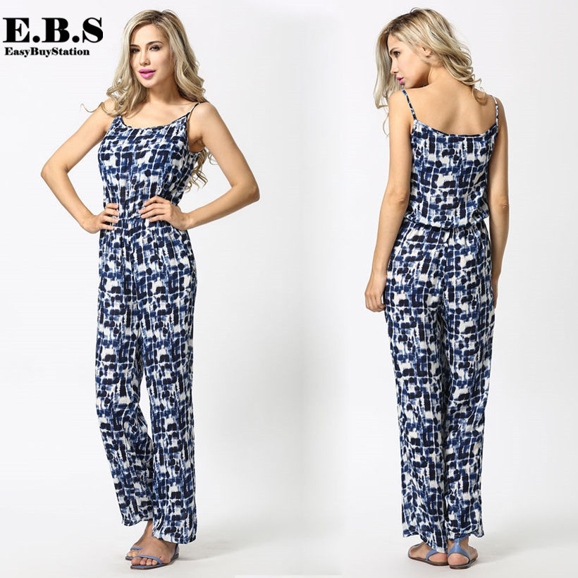 Aliexpress.com : Buy 2015 casual print Jumpsuit Women fashion ...