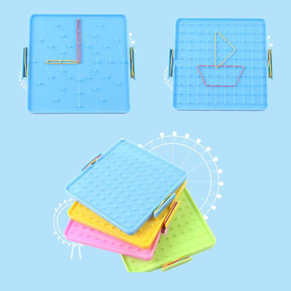 4Pcs 16x16cm Elastic Double-Sided Array Nail Geoboards Children Educational Toy Gift For Children Kids Primary Math Education