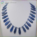 Good Quality Natural Blue Kyanite / Cyanite / Disthene Crystal Flat Drop Beads 10x30/15x30mm