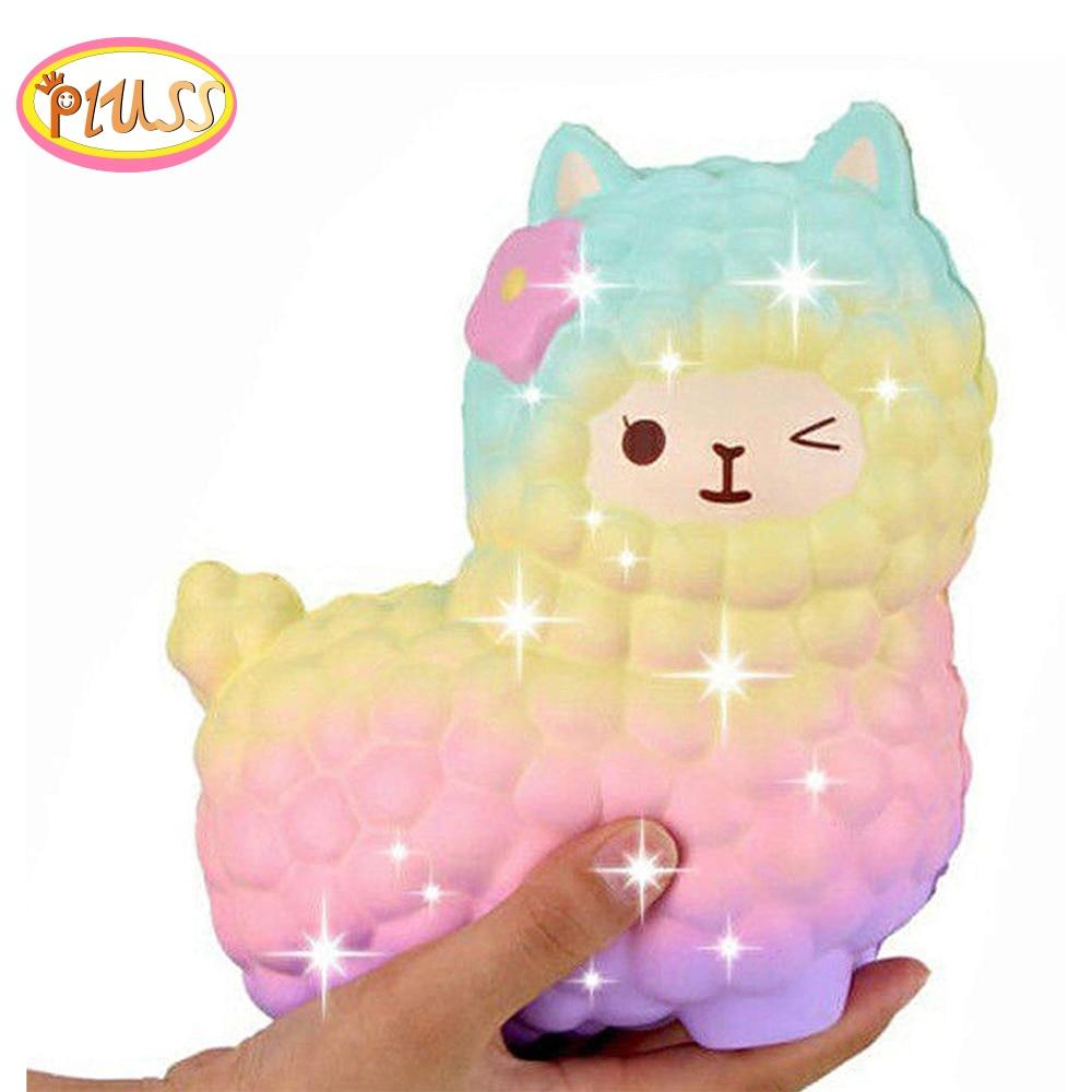 Jumbo Sheep Alpaca Squishy Cute Galaxy Slow Rising Animal Squishy Smooshy Mushy Squish Wholesale Exquisite Kids Gift(China)