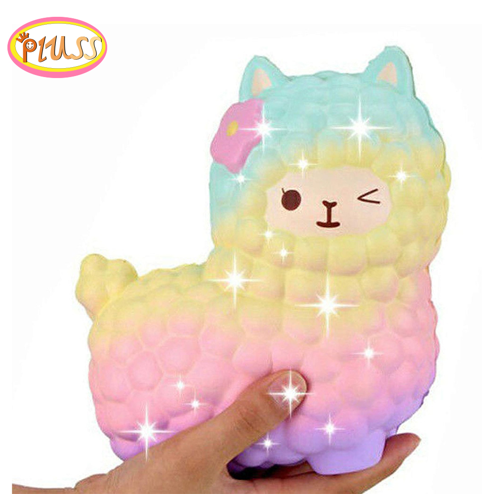 Gift Jumbo Squish Sheep Slow-Rising Smooshy Mushy Galaxy Kids Wholesale Cute Alpaca