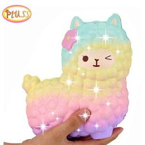 jumbo sheep alpaca squishy cute galaxy slow rising animal squishy squish wholesale exquisite kids gift(China)