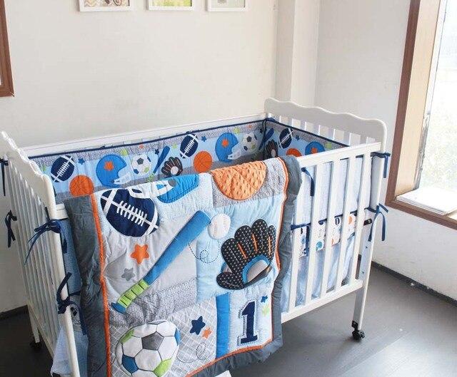 Bed Gordijn 10 : Stks d stereo bal sport geborduurde baby beddengoed quilt