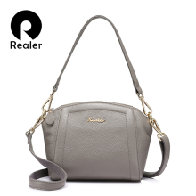REALER messenger bags for women small handbag genuine leathe