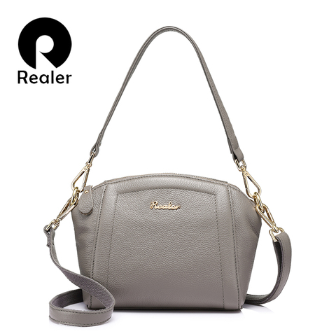 REALER messenger bags for women small handbag genuine leather shoulder crossbody bags female high quality evening top-handle bag Pakistan
