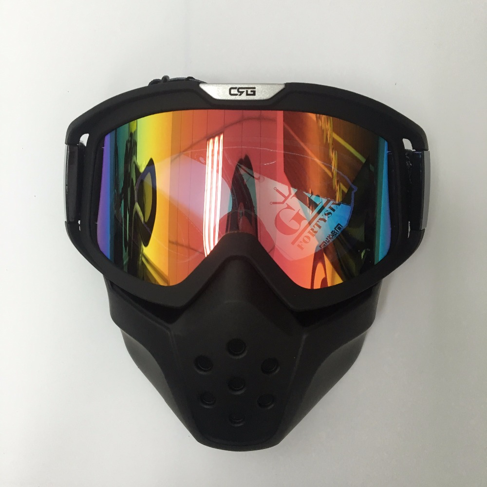 2017 hot Vintage Motorcycle Shark Helmet Goggles Motocross ...