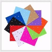 Pentagram Felt Craft felt Polyester Fabric 100% Print 10PCS 1pack Combination Cloth Handmade Sewing Material15x15