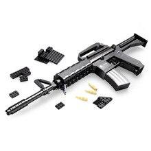 M16 Rifle Automático de Gran Tamaño Arma Arma Building Blocks Set 524 unids Ladrillos Compatible con Modesl y de Construcción de regalo Del Ejército bloques