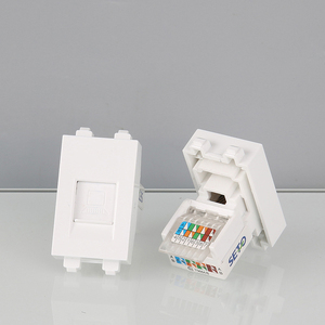 1 Piece RJ45 5e Internet Socket Cat5 Ethernet Slot Wall Panel Use For Blank Wall Outlet Faceplate(China)