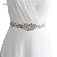 s123 Womens Wedding Sash Elegant Rhinestone Satin Ribbon Bridal Belts Party Bride Bridesmaid Belt Dress Cummerbunds Waistban