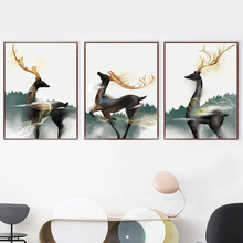 Watercolor Deity Deer Wall Art Canvas Painting Nordic Poster And Prints Animal Pictures For Living Room Bedroom Home Decor