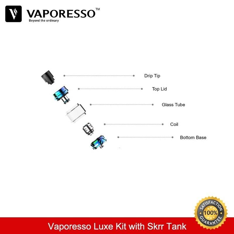 Vaporesso Luxe 220 w Kit 8 ml Skrr Vaporisateur Réservoir Boîte Mod avec Double 18650 Batterie QF Maillé Bobine Vaporisateur e-Cigarettes Kit VS Vengeur - 3