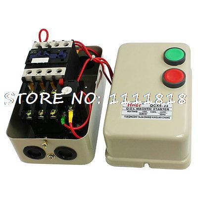 5.5KW 110V Coil 10-16A 3 Phase AC Contactor Motor Magnetic Starter chint electromagnetism starter magnetic force starter qc36 10t motor starter phase protect magnetic force switch