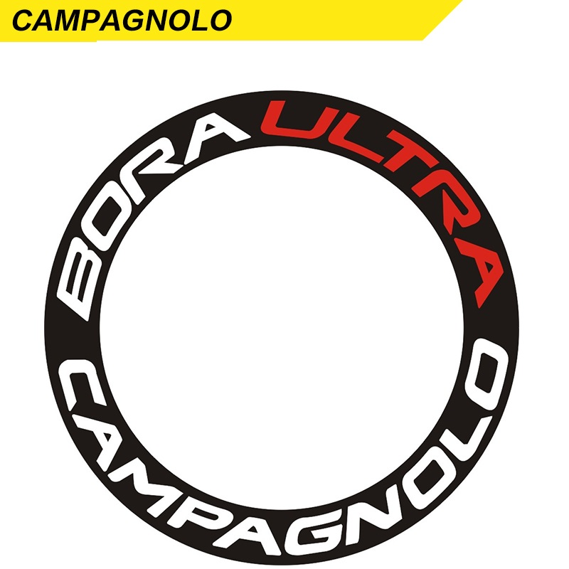 CAMPAGNLO BORA ULTRA 3D DESIGN RIM WHEEL DECALS STICKERS SET FOR 700C 2 RIMS
