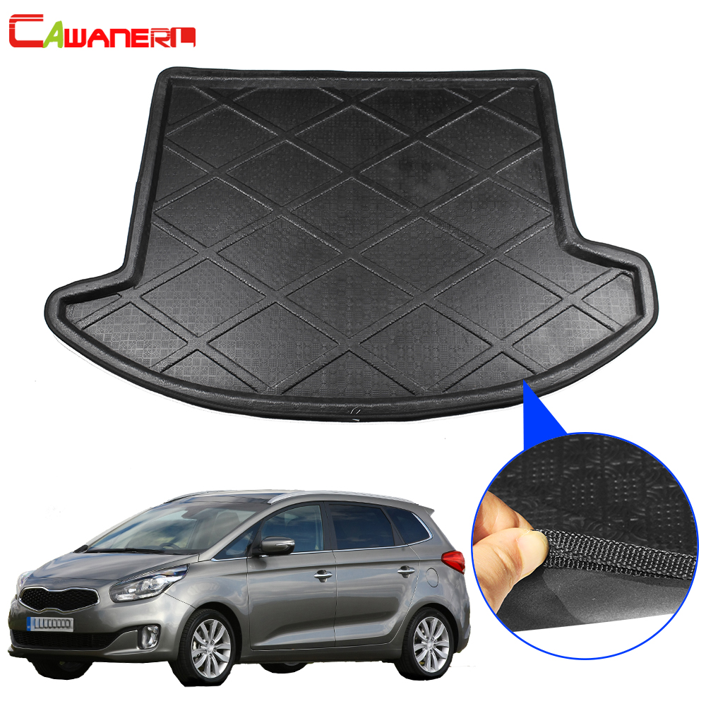 Cawanerl Car Accessories Trunk Mat Boot Tray Liner Rear Cargo Carpet Mud Floor Luggage Pad For Kia Carens 5 Seat 2006 2012|  - title=