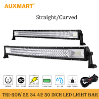 330W 31 Inch LED Light Bar For PHILIPS LED Chips Super Bright Offroad Spot Flood Beam