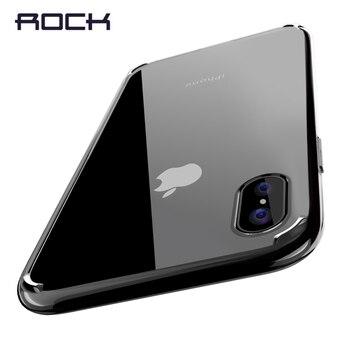 Para el iphone Caso de X, ROCA Pura Serie Ultra thin Trasero Duro para el iphone X caja Del Teléfono Cristalina para iPhoneX Con Borde Suave