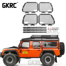 4 adet Metal katlanabilir araba pencere koruyucu Net 1/10 Rc paletli araba Defender Traxxas Trx4 pencere koruması Net korkuluk