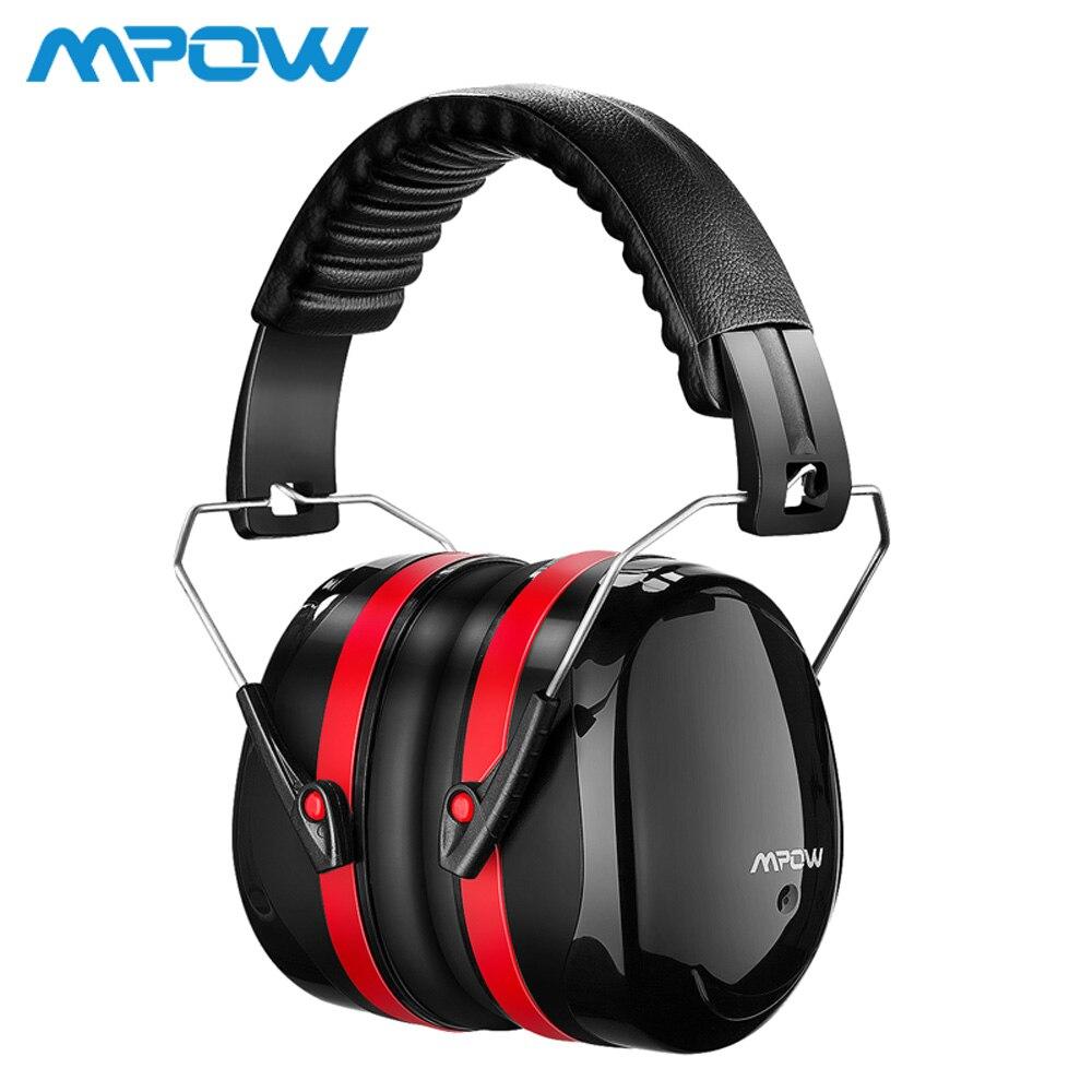 Mpow HM035 SNR 34dB réduction du bruit cache-oreilles Protection auditive mousse souple avec sac de transport pour enfants adultes tir