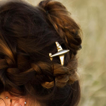 Fashion Women Metal Plane Hair Clip Gold Silver Color Simple Aircraft Hairpin Accessories Jewelry For Ladies Girls