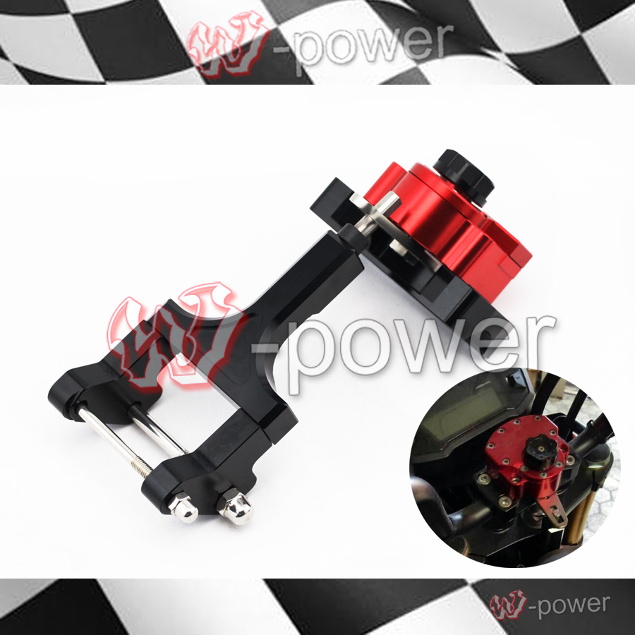 For HONDA MSX 125 Grom/Monkey 2013 2014 2015 Red Motorcycle Reversed Safety Steering Damper Stabilizer with Mount Bracket недорого