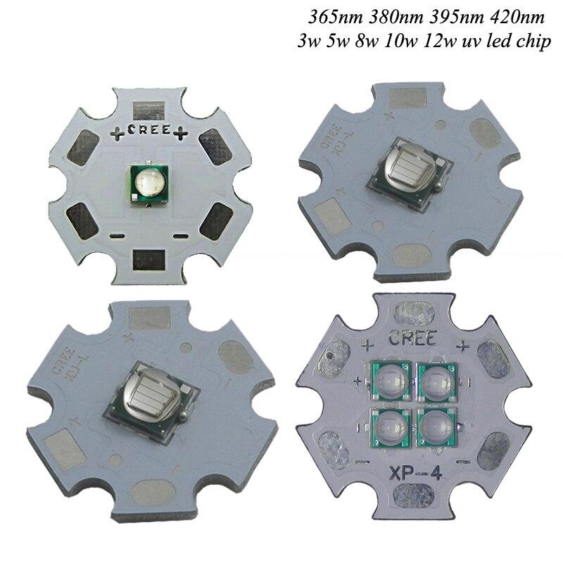1 шт. 3 Вт 5 Вт 8 Вт 10 Вт 12 Вт УФ/ультрафиолетовый Высокая Мощность 3535 <font><b>LED</b></font> излучатель 365nm <font><b>380nm</b></font> 395nm420nm для УФ планшетный принтер, лампы отверждения