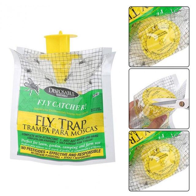 Полезная анти FlyTrap висячая муха притягивающая сумка для наружного сада ловушка для вредителей продукты Одноразовые рыболовная приманка сумка