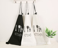 Women Men Apron Restaurant Home Bib Cotton Kitchen Aprons White Avental Adult Work Party Bbq Apron Cooking Cleaning