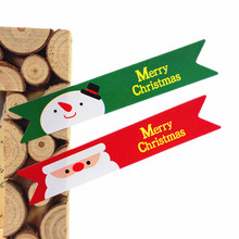 120pcs/lot Santa Claus & Snowman  New Year Series Kraft paper Sticker for Handmade Products for baking Gift seal sticker label