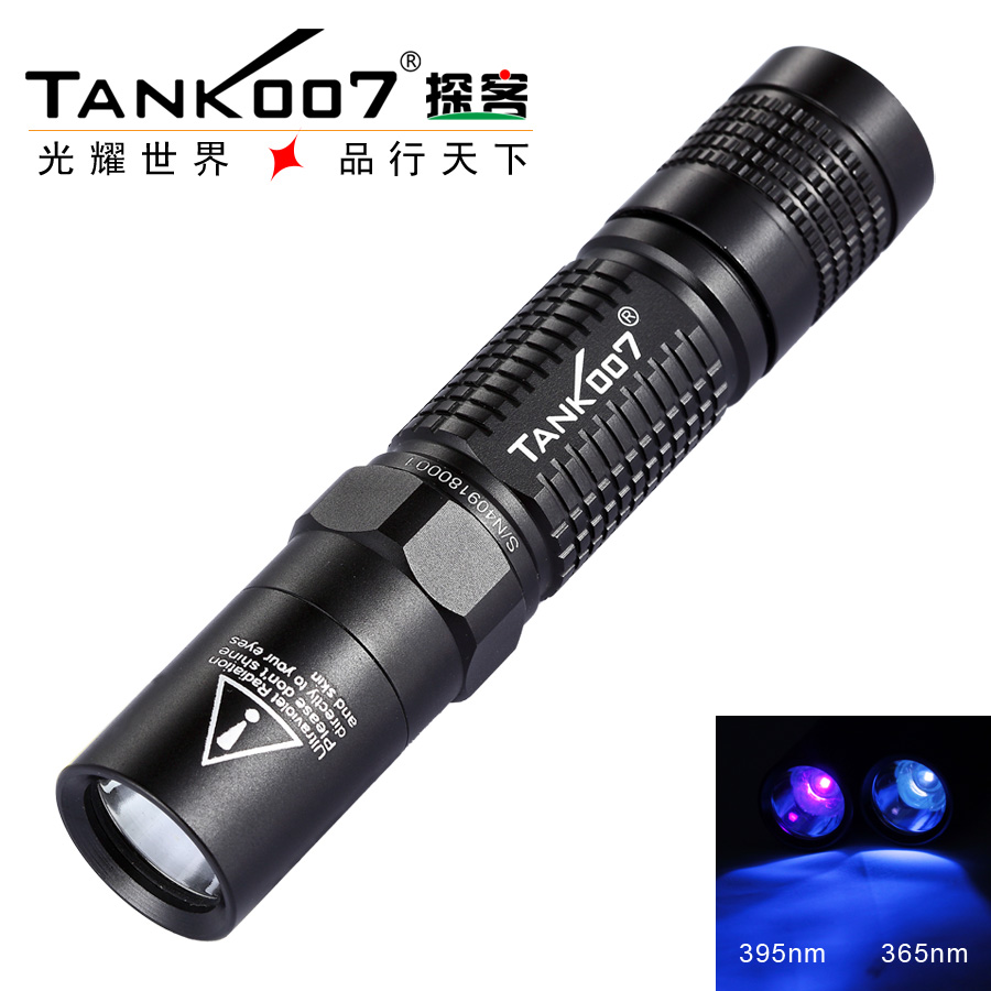 Free Shipping TANK007 L03 365nm 5W uv 18650 flashlight black light Lamp Torch Check the site survey marks Authenticity free shipping tank007 tk566 365nm 1w uv led aluminum alloy handle black light fluorescent work flashlight torch