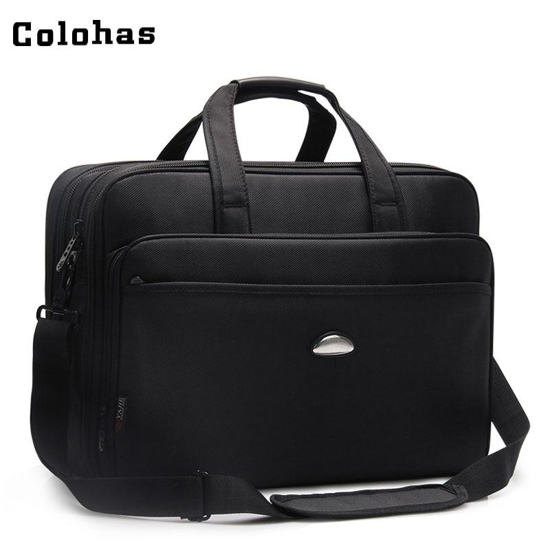 17 inch Laptop Bag Men Big Capacity Cusiness Travel Computer Briefcase Notebook Handbag Single Shoulder Messenger