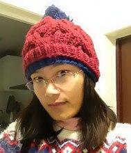 Корейский мода новый зима теплая шапка чисто ручной работы трикотажные откр женщины шапочка
