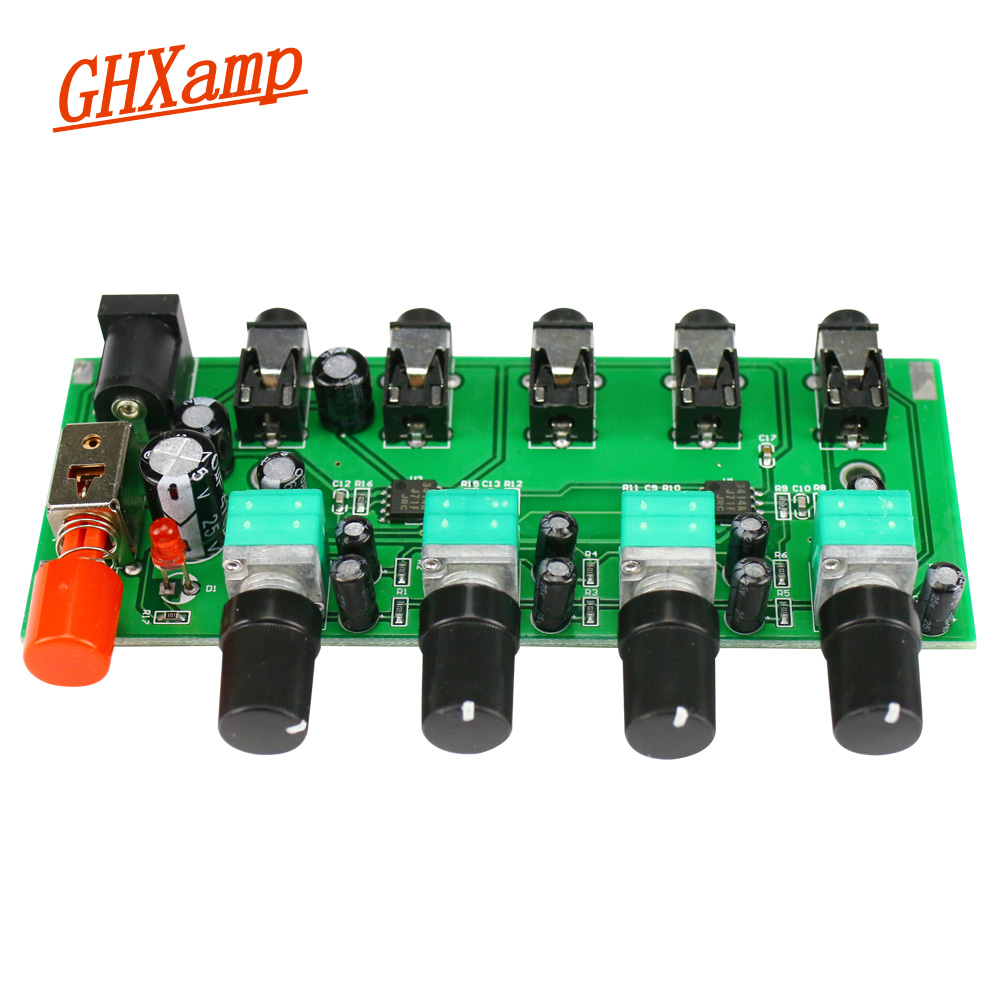 Amplifier Home Audio & Video Ghxamp Stereo Audio Mixer Board 4 Way Input Mixing 1 Way Audio Output Drive Headphones Amplifier Njm3414 Four Input One Output As Effectively As A Fairy Does