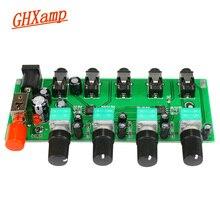 GHXAMP Stereo Audio di Bordo Mixer 4 Via di Ingresso di Miscelazione 1 modo di uscita Audio Guidare Le Cuffie Amplificatore NJM3414 Quattro di un Ingresso uscita