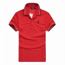 Летние мужские Случайные Воротник Polo Рубашки Равнине Slim Fit С Коротким Рукавом Ти Топы(China (Mainland))