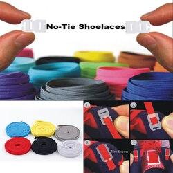 Elástica Não Amarrar Cadarços Esportes Treinador Foge Correndo Athletic Shoe laces DIY Fácil Sapato Corda Corda para Mulheres Dos Homens