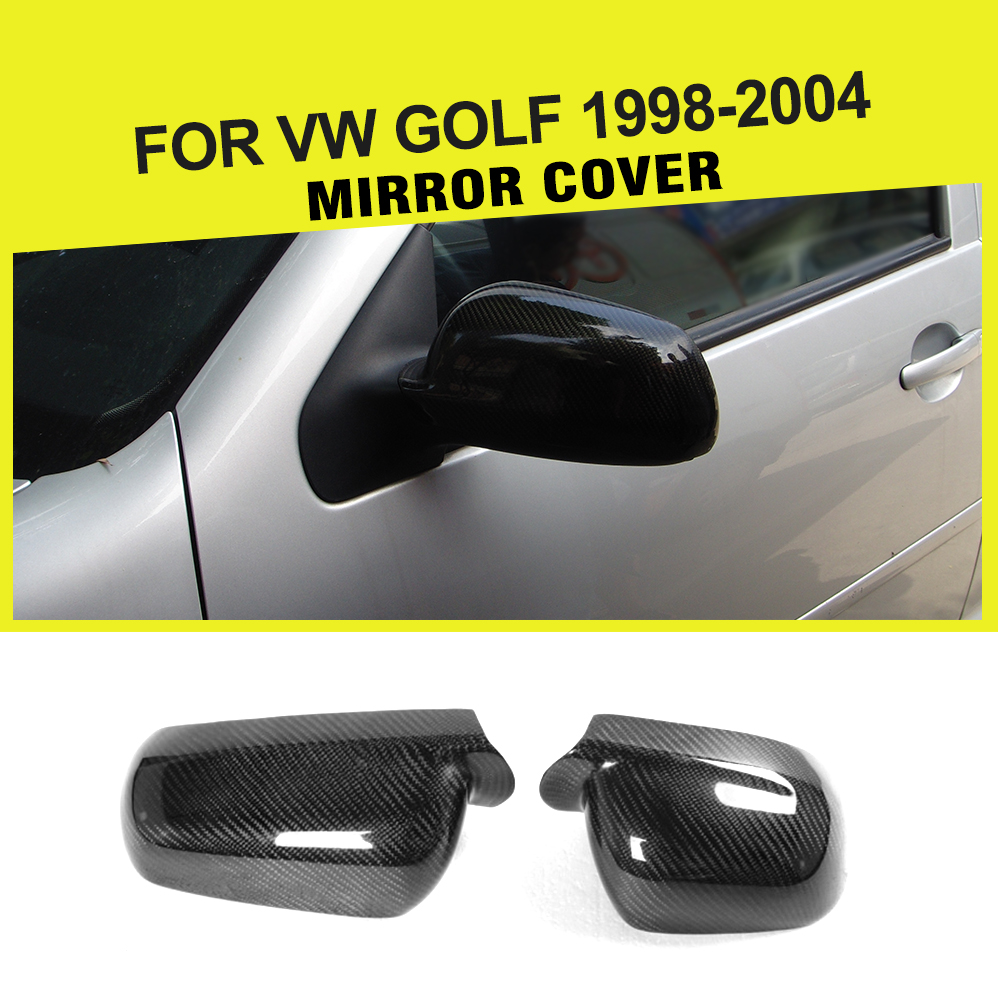 Carbon Fiber Auto Car Side Rearview Mirror Caps Covers Trims for Volkswagen VW Golf 4 IV MK4 1998-2004 Add On Style the editor пиджак