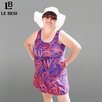 Ultralarge Large Plus Size Quinquagenarian 100kg 6xl One Piece Swimwear Swimsuit