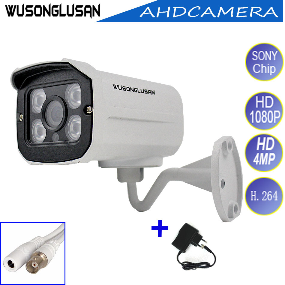 Ahd 1080P Camera Outdoor Bullet Waterproof Full HD 720P 960P 4MP 2MP Sony IMX323 CMOS IR Cut Night Vision CCTV Security Cameras