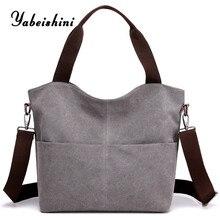 Canvas Women's Bag Casual Shoulder Bags Large Ladies Shopping Bag Tote Crossbody Bags Purses Handbag For Women 2019 Eco Shopper недорго, оригинальная цена