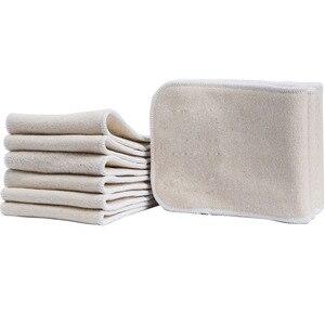 Image 4 - Inserción de pañal de algodón de cáñamo de 4 capas se adapta con bolsillo para bebé pañal de tela forro para pañal Super absorbente inserción de pañal s para pañales de bebé