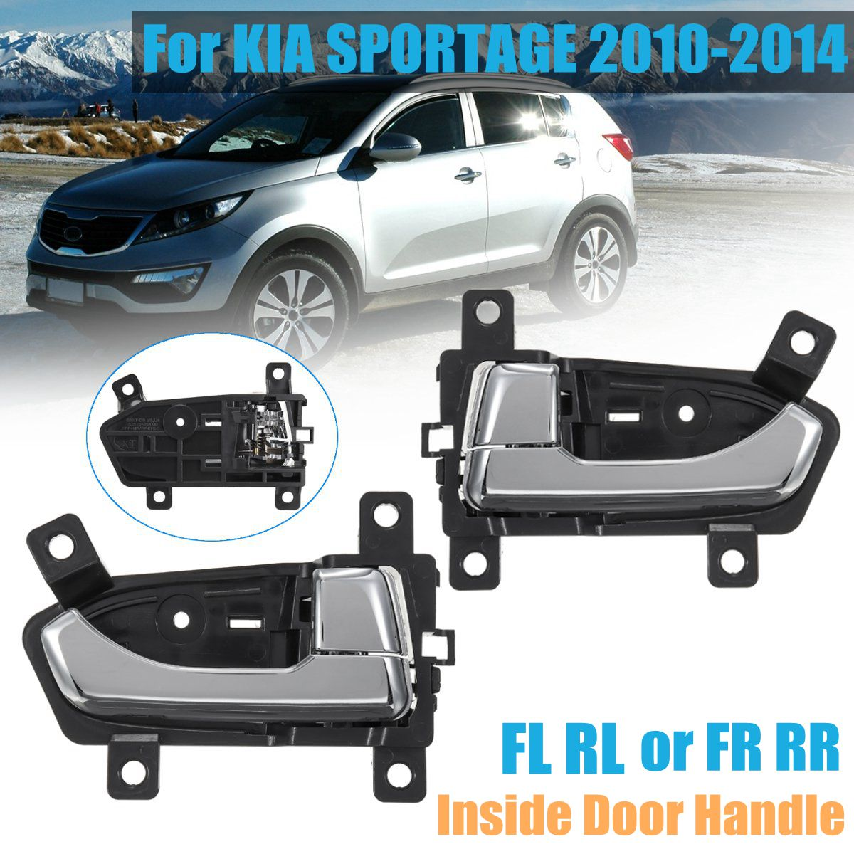 1PC Front Right Rear Right Black Car Outside Door Handle Fit For Elantra 11-15
