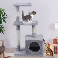 85CM Height Cat'S Tree Pets Scratching Posts Pets Furniture Scratchers Cat Play Jumping Toy for Cats Climbing Frame Cat Condos