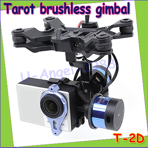 1pcs Tarot Brushless Gimbal T-2D for GoPro Hero3 Mount for Phantom TL68A00 FPV RTF  Wholesale Drop Freeship f11650 sj2d 2 axle camera brushless gimbal mount for sj4000 sj5000 gopro hero 3 4 diy fpv drone s550 tarot 650 phantom