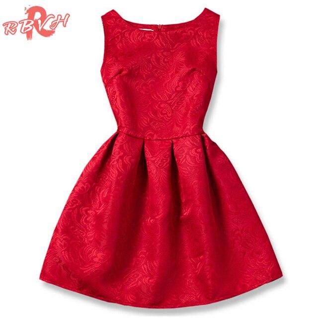 3e9d23593 الصيف العلامة التجارية 2018 الأميرة فتاة اللباس الأحمر الاطفال ملابس فساتين  لفتاة الأطفال الملابس مراهق حزب