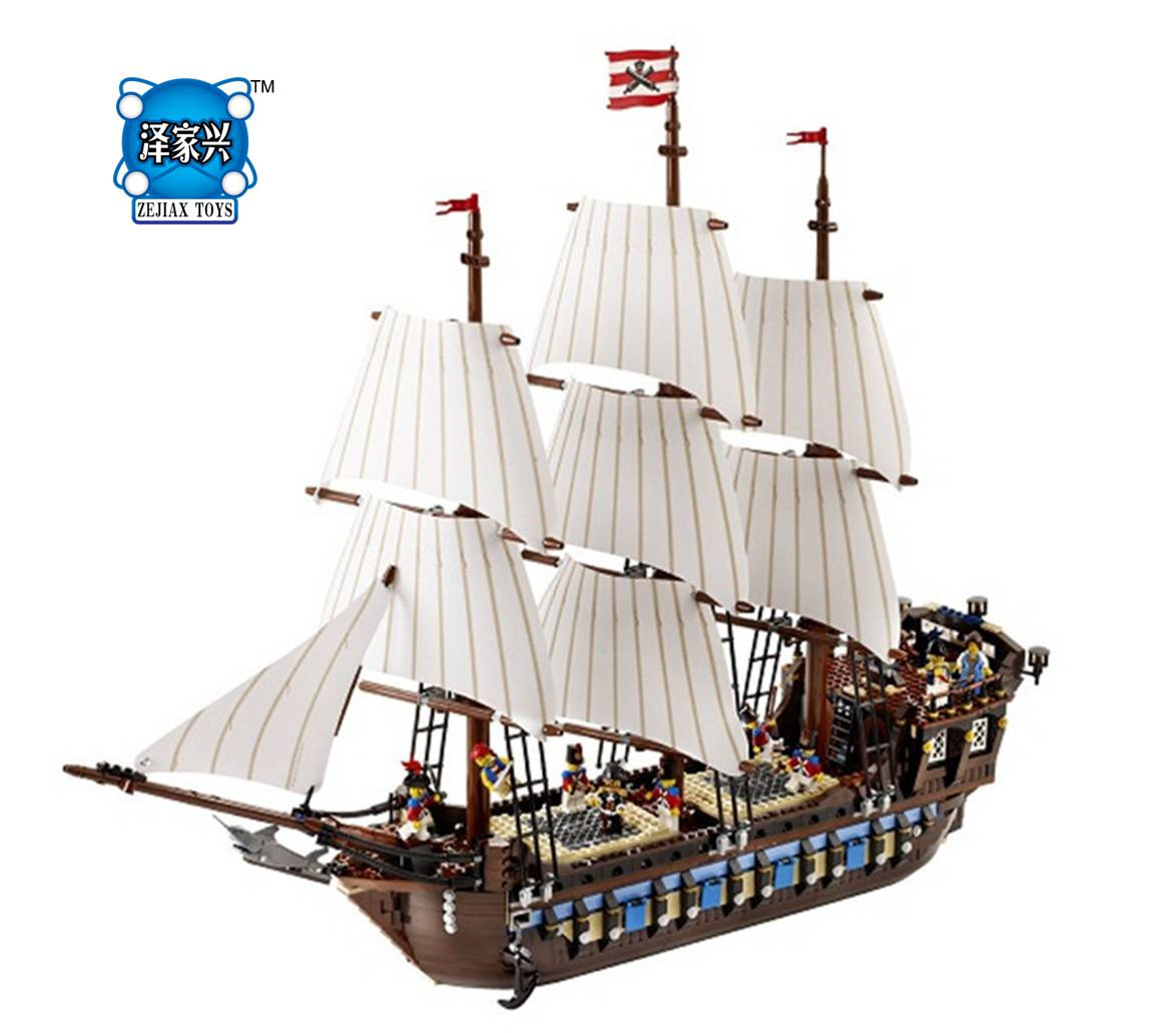 NEW Pirate Ship Imperial Warships Model Building Kits Block Bricks Figure Gift 1717pcs CompatIble Lepines Educational Toys new lepin 22001 pirate ship imperial warships model building kits block briks gift 1717pcs compatible diy 10210 educational toys