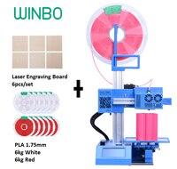 Wielofunkcyjny Konsumentów 3D Drukarki z 12 kg PLA żarnik/6 sztuk Grawerowania Wyżywienie: Winbo SH105L 3D drukuj + + Cięcia Laserowego Grawerowania