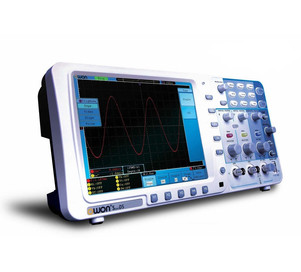 Owon SDS7102 Deep Memory Digital Storage Oscilloscope, 2 Channel with VGA and LAN Interface